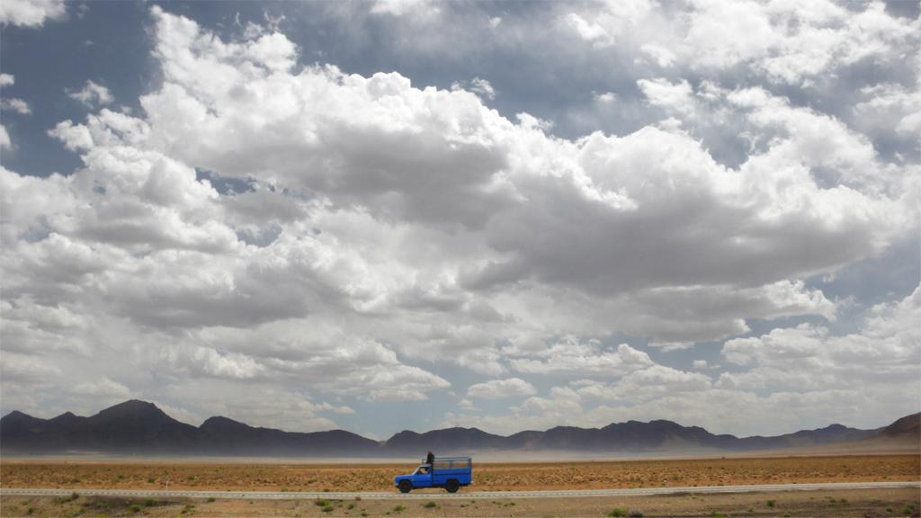 Camion sur une route iranienne