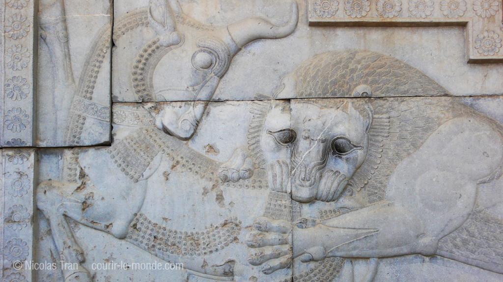 Détail d'une frise à Persépolis