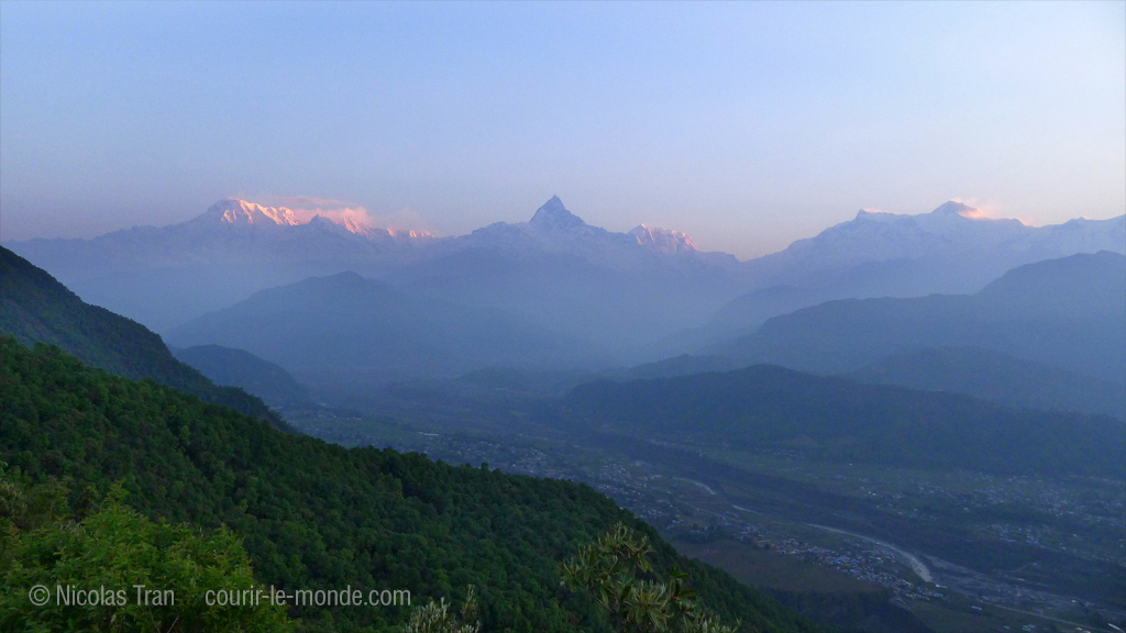 Sarangkot, lever de soleil sur l'Anapurna, Népal